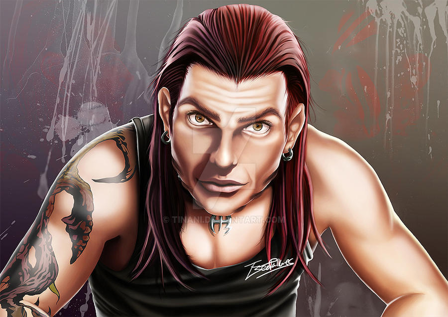 The Enigma Jeff Hardy By Tinani On Deviantart Jeff Hardy Color Drawing