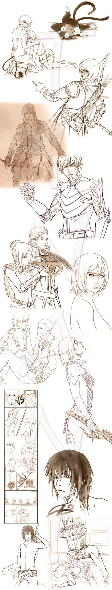 Sketches 1 by Tinani