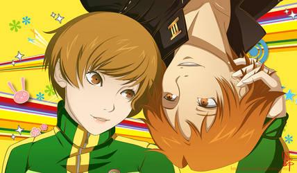 Persona 4 - Chie and Yosuke