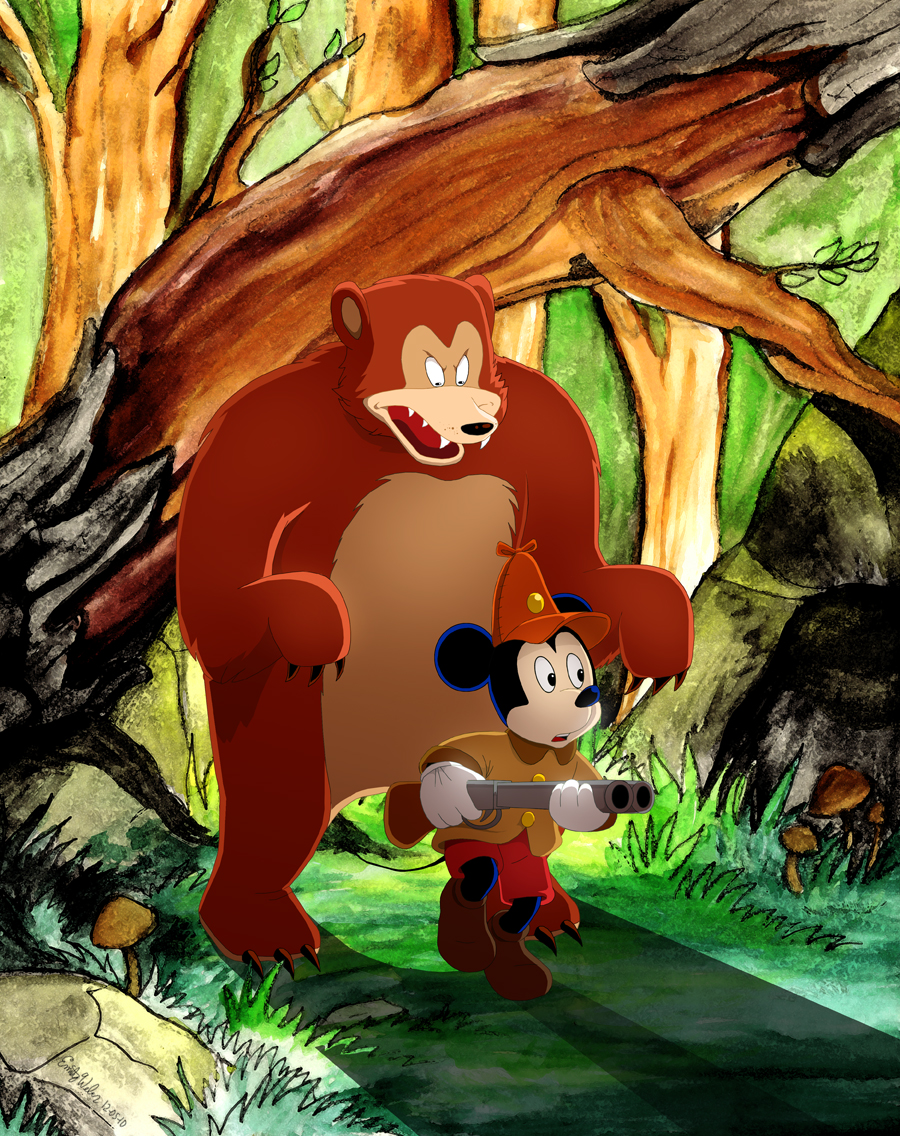 Mickey Goes Hunting by Zimeta