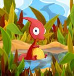 Baby Parasaurolophus by DrZime