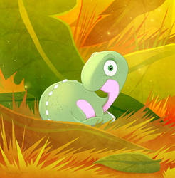 Baby Brontosaurus by DrZime