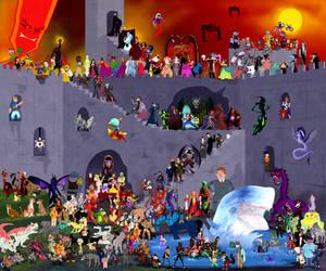 Disney Villains Collaboration by DrZime