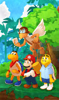 Mario and his Koopa Friends by DrZime
