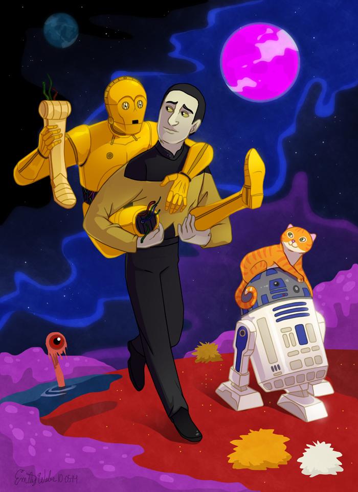 Star Trek Wars: Data and C3PO by DrZime