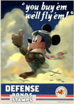 WWII Mickey Mouse Poster
