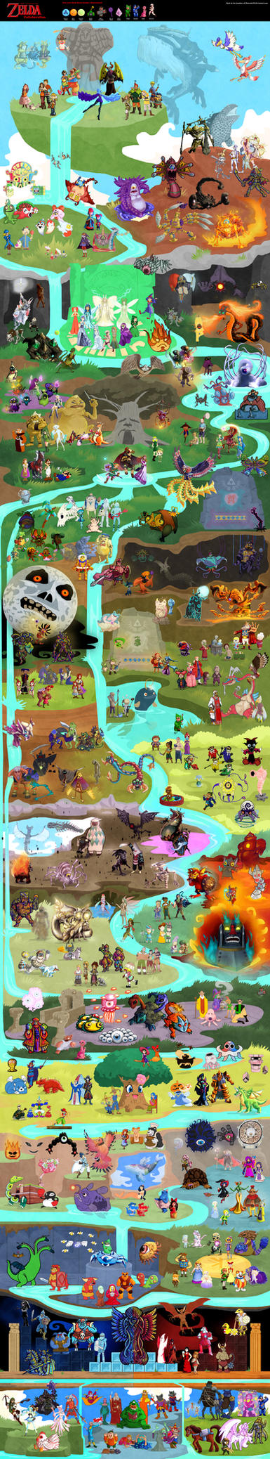 Massive Legend of Zelda Collaboration by DrZime
