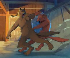 Werewolf Fight by DrZime