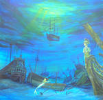 Ships Graveyard painting