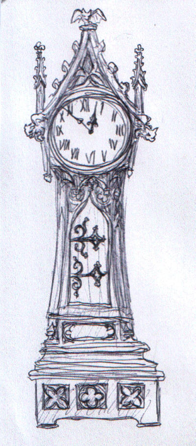 Grandfather Clock Sketch Grimling's Grand...