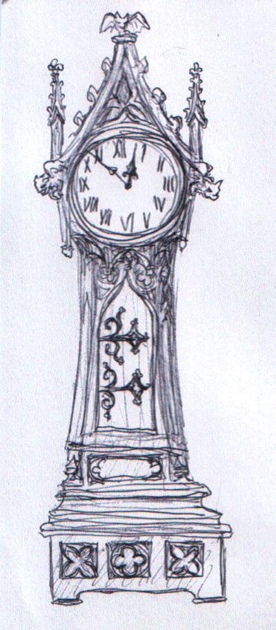 grandfather clock drawing. grimlingu0027s grandfather clock by dashinvaine drawing