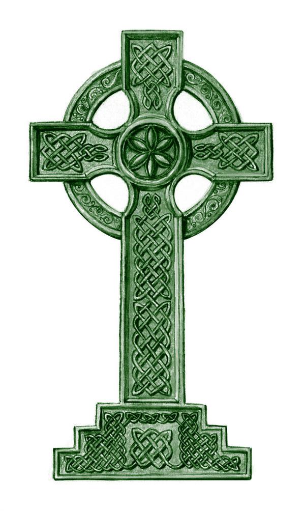 Image result for green celtic cross