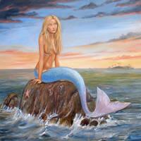 Blue Mermaid by dashinvaine