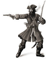 Blackbearn the Pirate by dashinvaine