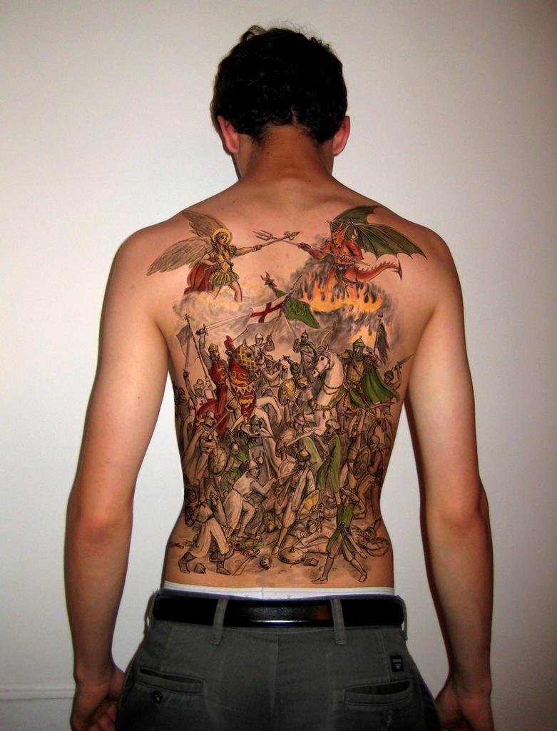 Crusader battle tattoo by dashinvaine
