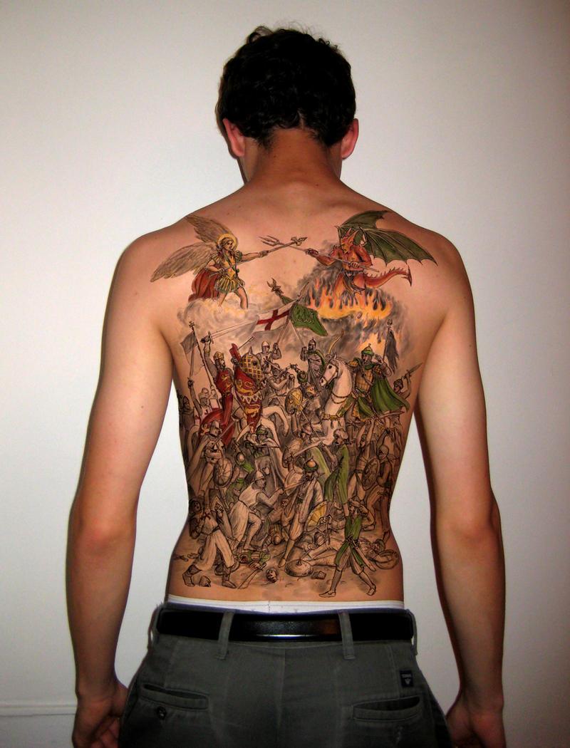 Crusader battle tattoo