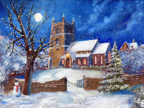 Christmas Church by dashinvaine on DeviantArt