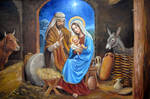 nativity with manger