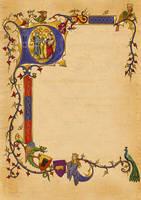 Medieval Invite Illumination by dashinvaine