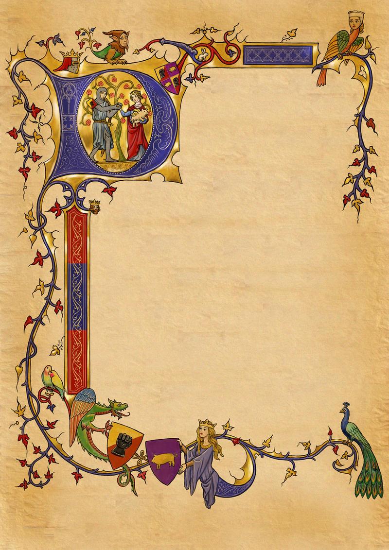 illuminated alphabet templates - medieval invite illumination by dashinvaine on deviantart