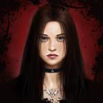 Dark girl with purple eyes