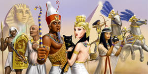 Egyptian Characters reworked