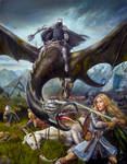 Eowyn and the Nazgul Painting