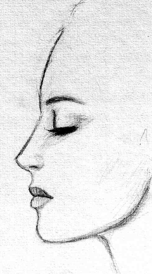 11 steps on how to draw a female face (side view ...