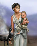 Greek woman and child