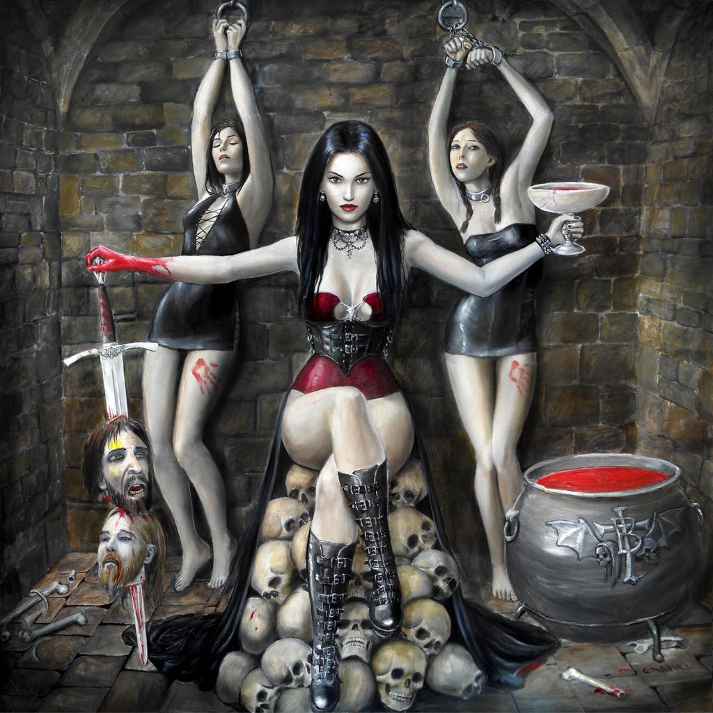 Sexy halloween vampire art xxx females