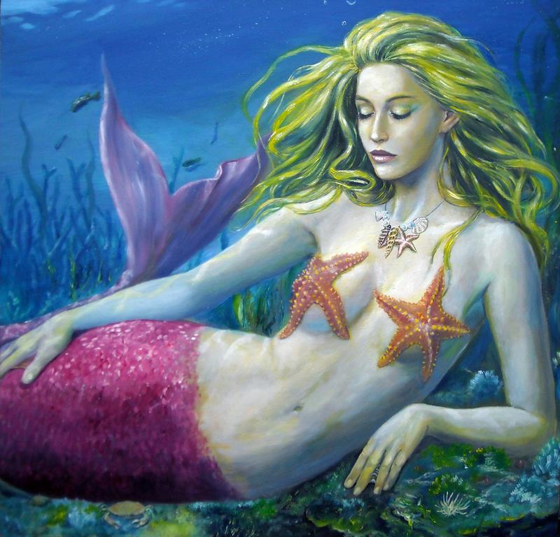Maroon Mermaid. by dashinvaine