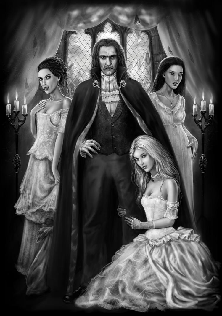 Dracula and his Ladies by dashinvaine