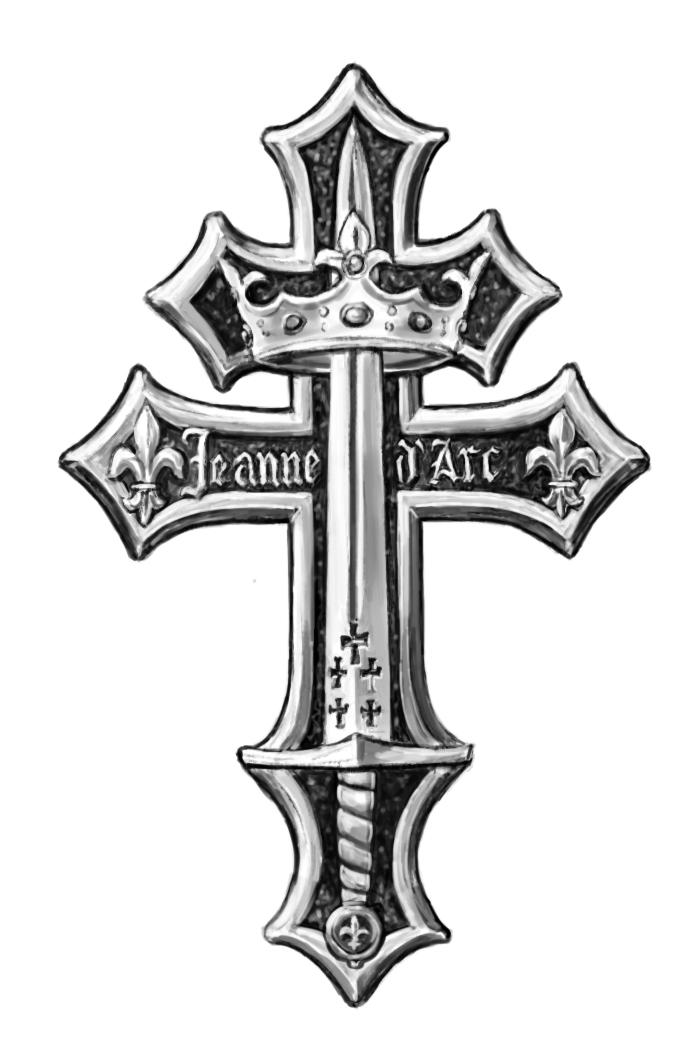 Joan of Arc Cross by dashinvaine - 227.5KB