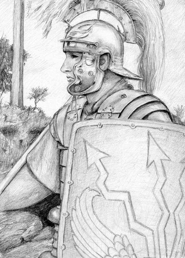 How to draw roman soldiers
