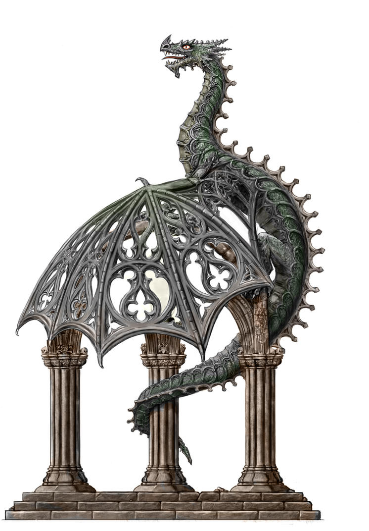Architectural Dragon Lamp Design By Dashinvaine On Deviantart
