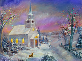 Wintery Church by dashinvaine