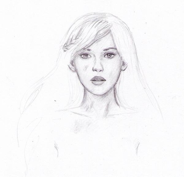 Daenerys face sketch by dashinvaine