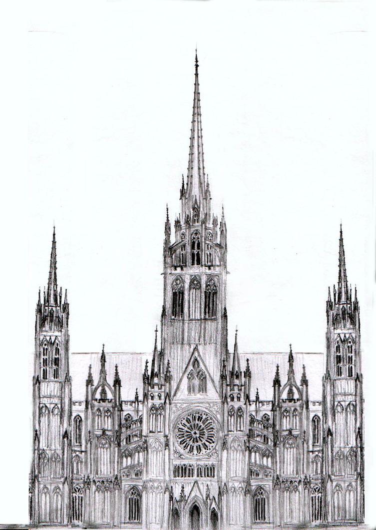 Dark Cathedral Sketch By Dashinvaine On Deviantart