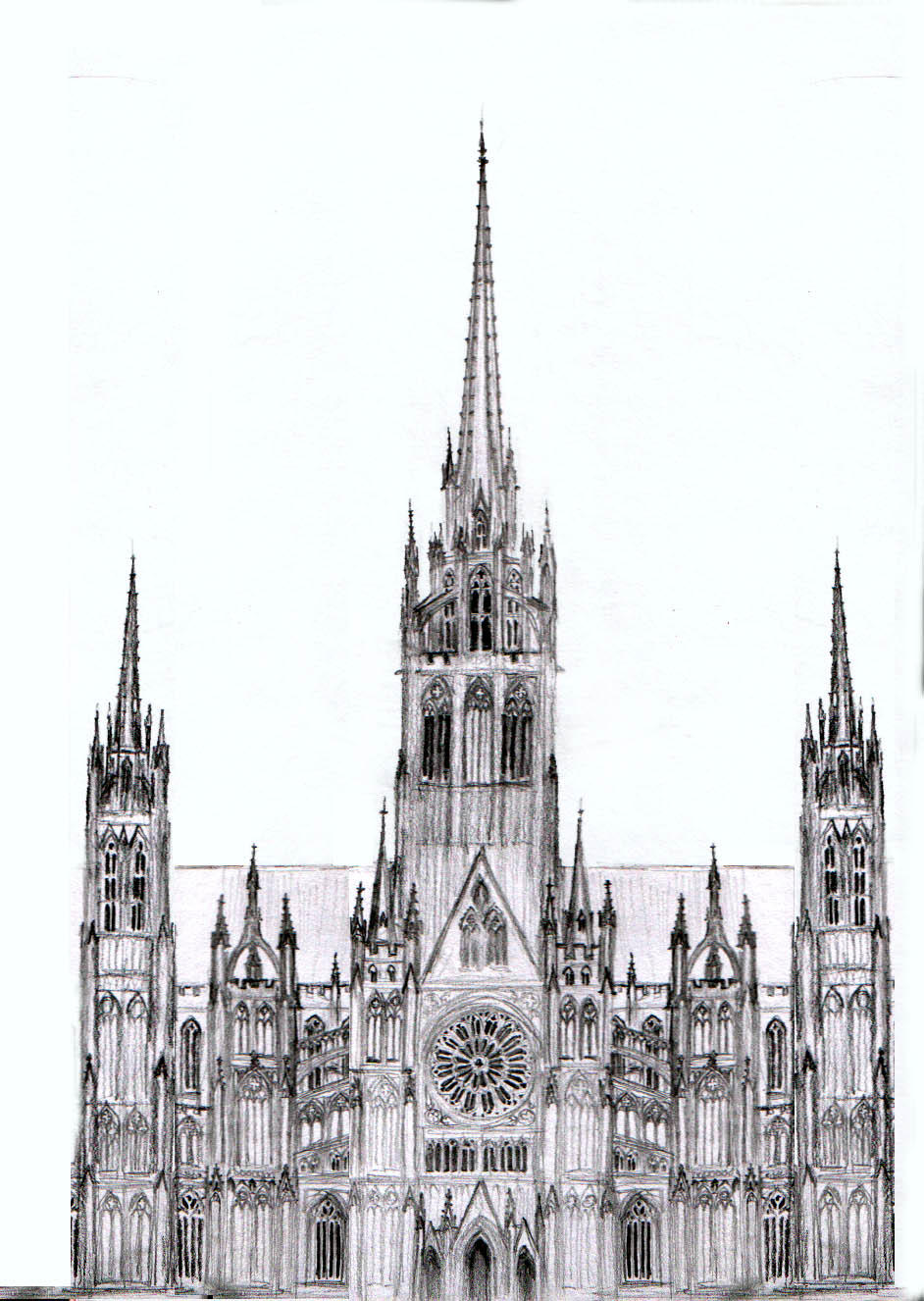 dark cathedral sketch by dashinvaine on deviantart