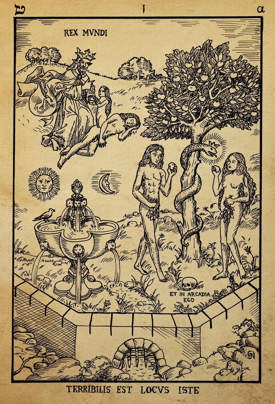 Alchemy Woodcut Terebilis Est Locus Iste By Dashinvaine On