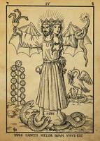 Alchemy Woodcut duos caputis melior quam unus est by dashinvaine
