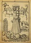 Alchemy Woodcut duos caputis melior quam unus est