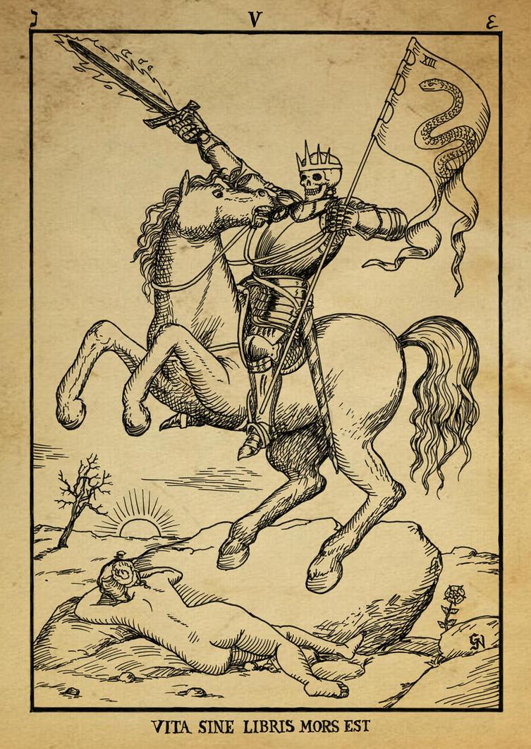 Alchemy woodcut Vita sine Libris mors est by dashinvaine