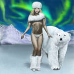 Lady with Polar Bear
