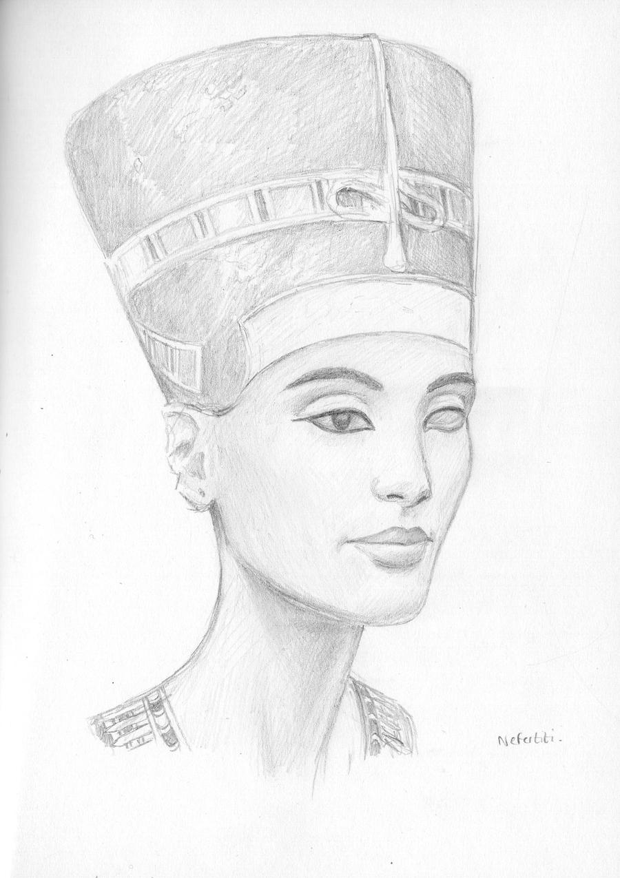 Nefertiti sketch by dashinvaine on DeviantArt