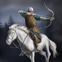 Horse Archer by dashinvaine