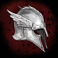 Crow Winged Helmet by dashinvaine