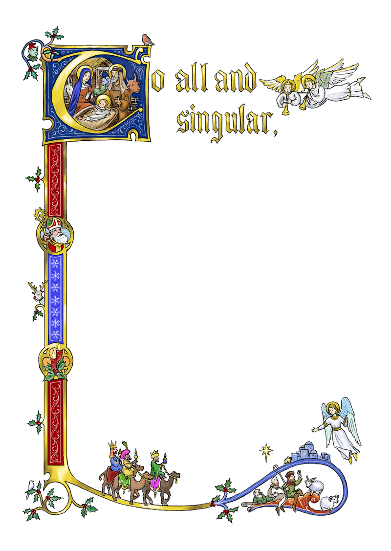Christmas medieval manuscript by dashinvaine on deviantart for Another word for food decoration