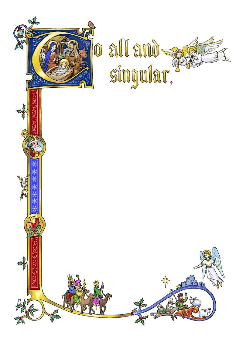 Medieval Manuscript Borders