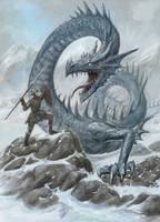 Ice Linnorm Dragon by dashinvaine